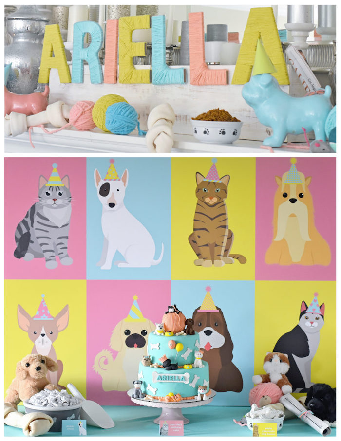 Bow, Wow, Meow Puppy and Kitten Paw-ty on Kara's Party Ideas | KarasPartyIdeas.com (21)