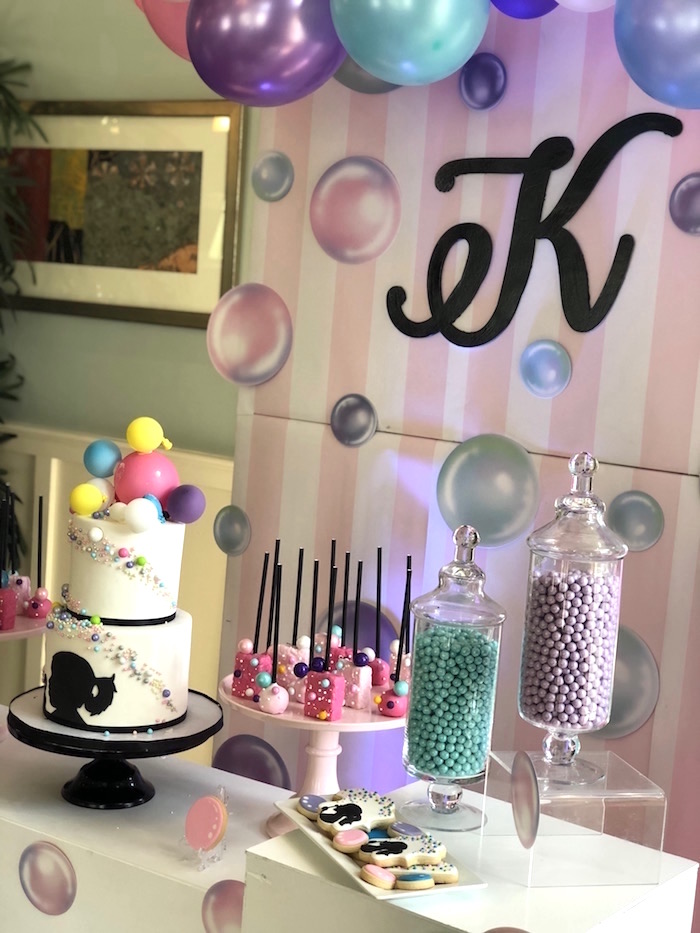 Bubble Themed Dessert Table from a Bubbles Birthday Party on Kara's Party Ideas | KarasPartyIdeas.com (8)