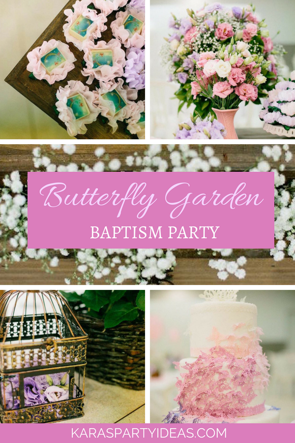 Butterfly Garden Baptism Party via Kara_s Party Ideas - KarasPartyIdeas.com