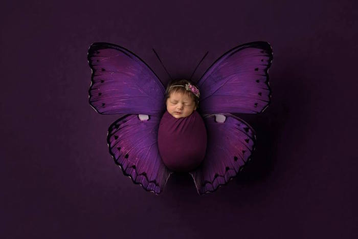 Butterfly Baby from a Butterfly Garden Baptism Party on Kara's Party Ideas | KarasPartyIdeas.com (2)