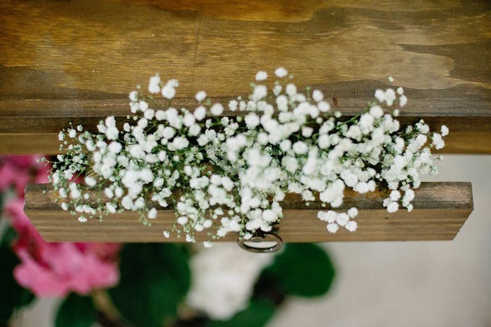 Stuffed Gypsophila from a Butterfly Garden Baptism Party on Kara's Party Ideas | KarasPartyIdeas.com (12)