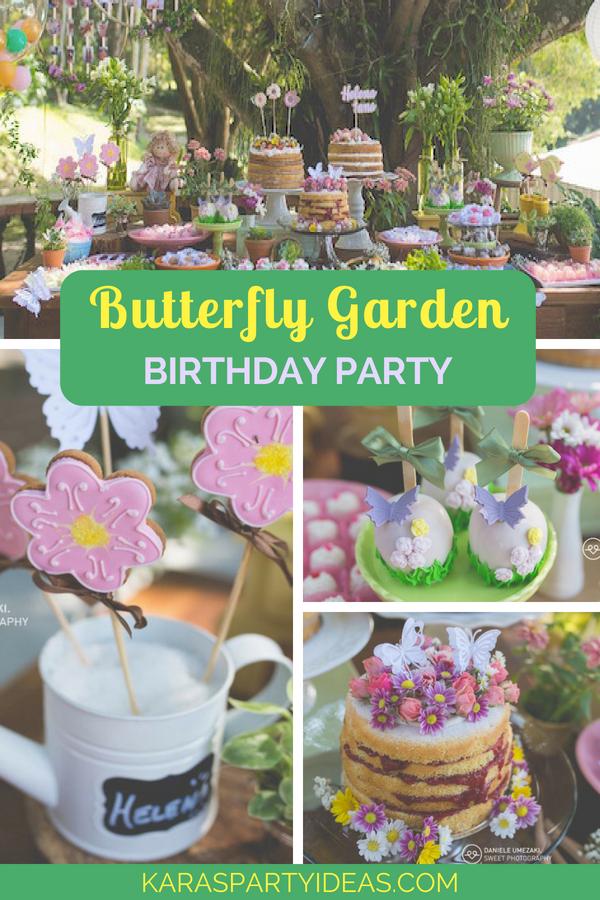 Butterfly Garden Birthday Party via Kara_s Party Ideas - KarasPartyIdeas.com