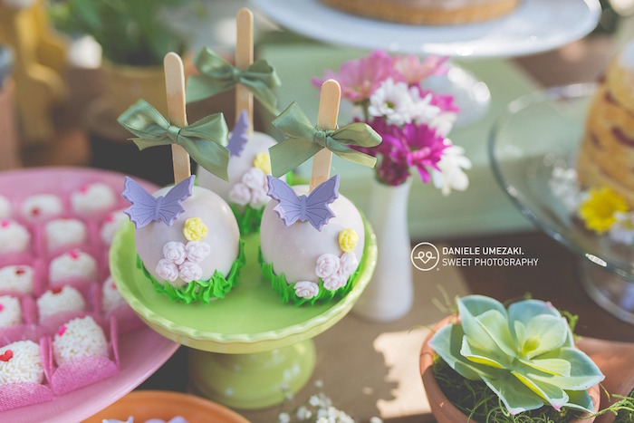 Butterfly Garden Cake Pops from a Butterfly Garden Birthday Party on Kara's Party Ideas | KarasPartyIdeas.com (7)