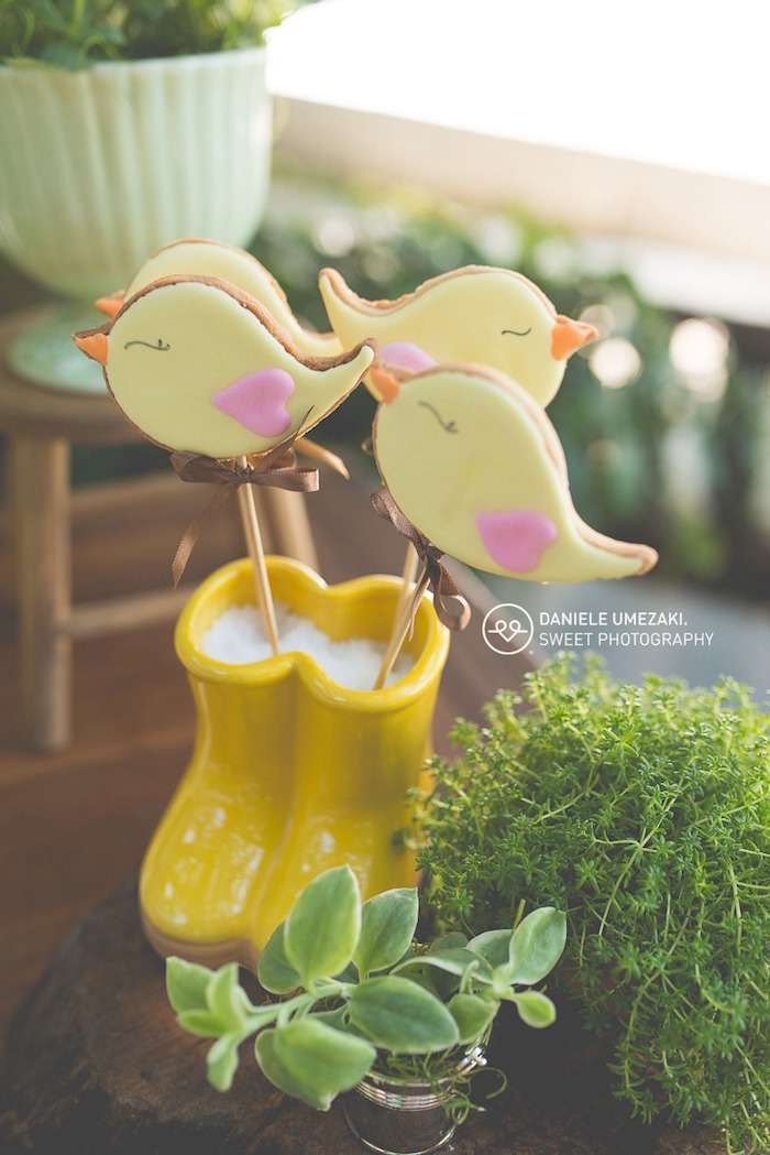 Bird Cookie Pops from a Butterfly Garden Birthday Party on Kara's Party Ideas | KarasPartyIdeas.com (21)