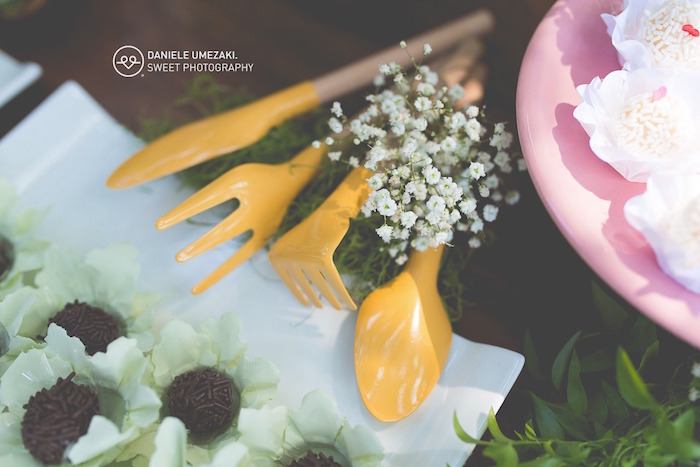 Yellow Utensils from a Butterfly Garden Birthday Party on Kara's Party Ideas | KarasPartyIdeas.com (20)