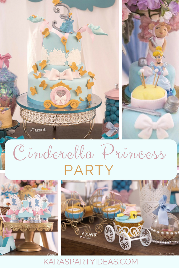 Cinderella Princess Party via Kara_s Party Ideas - KarasPartyIdeas.com