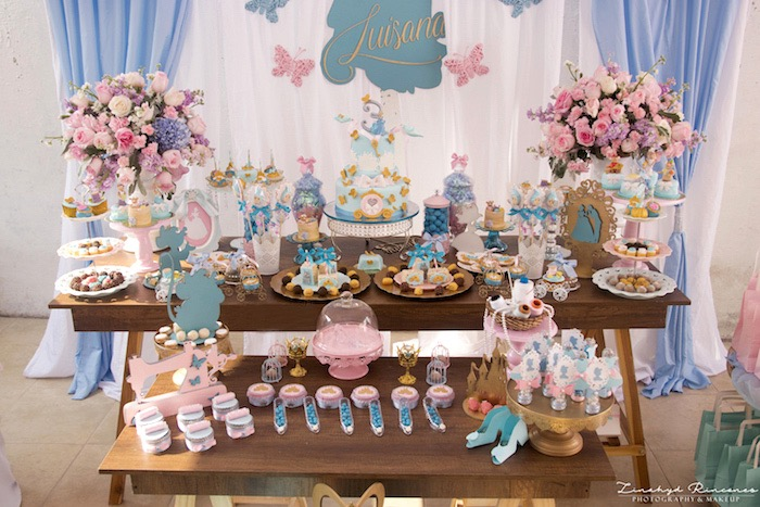 Cinderella Dessert Table from a Cinderella Princess Party on Kara's Party Ideas | KarasPartyIdeas.com (9)