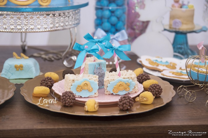 Cinderella Krispies from a Cinderella Princess Party on Kara's Party Ideas | KarasPartyIdeas.com (6)
