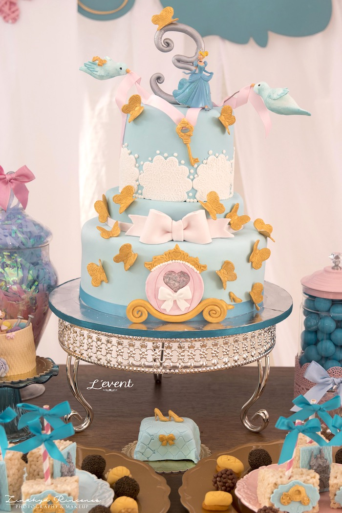 Cinderella Cake from a Cinderella Princess Party on Kara's Party Ideas | KarasPartyIdeas.com (5)