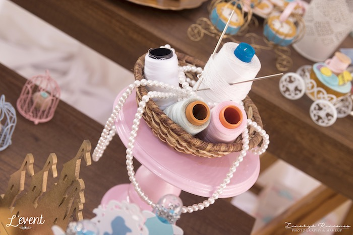 Spool Centerpiece from a Cinderella Princess Party on Kara's Party Ideas | KarasPartyIdeas.com (16)