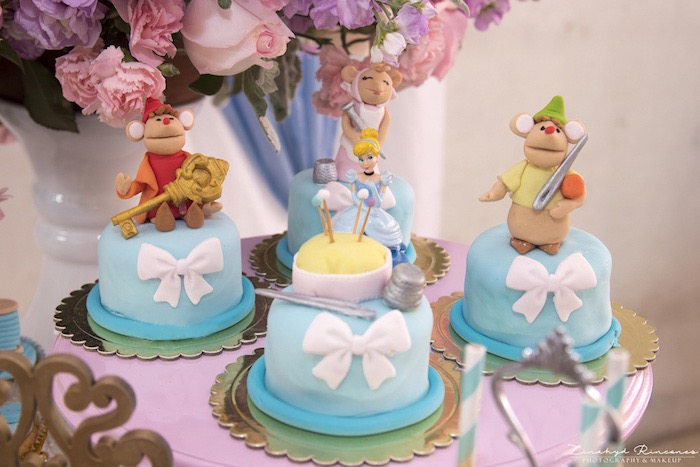 Cinderella Mouse Mini Cakes from a Cinderella Princess Party on Kara's Party Ideas | KarasPartyIdeas.com (13)