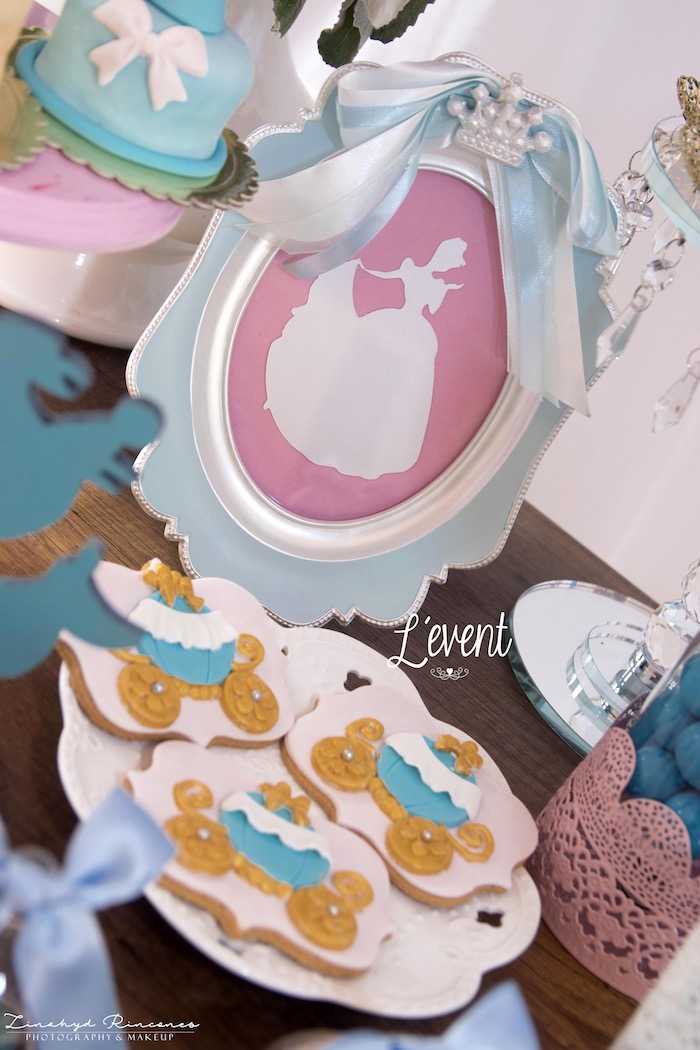 Cinderella Cookies from a Cinderella Princess Party on Kara's Party Ideas | KarasPartyIdeas.com (12)