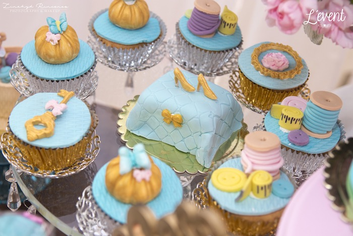 Cinderella Cupcakes from a Cinderella Princess Party on Kara's Party Ideas | KarasPartyIdeas.com (10)