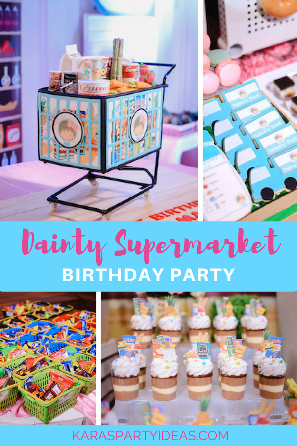 Dainty Supermarket Birthday Party via Kara_s Party Ideas - KarasPartyIdeas.com