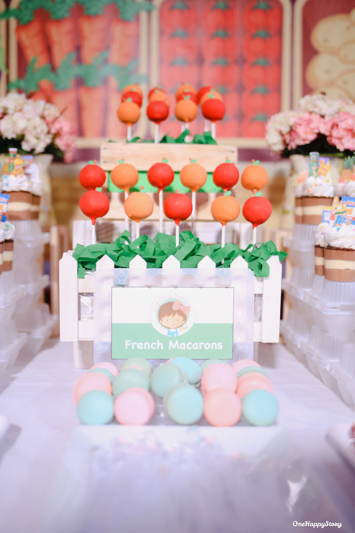 French Macarons + Cake Pops from a Dainty Supermarket Birthday Party on Kara's Party Ideas | KarasPartyIdeas.com (15)