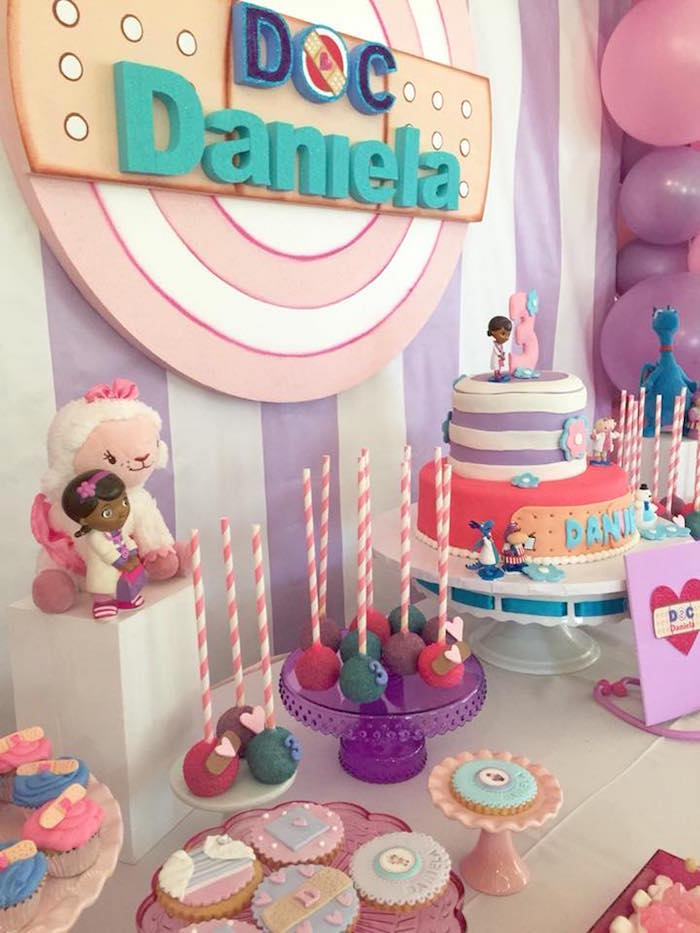 Doc McStuffins Dessert Table on Kara's Party Ideas | KarasPartyIdeas.com (4)