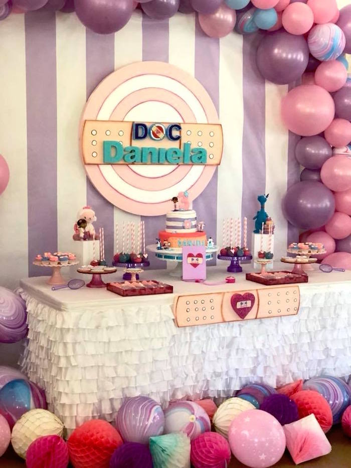 Doc McStuffins Dessert Table on Kara's Party Ideas | KarasPartyIdeas.com (3)