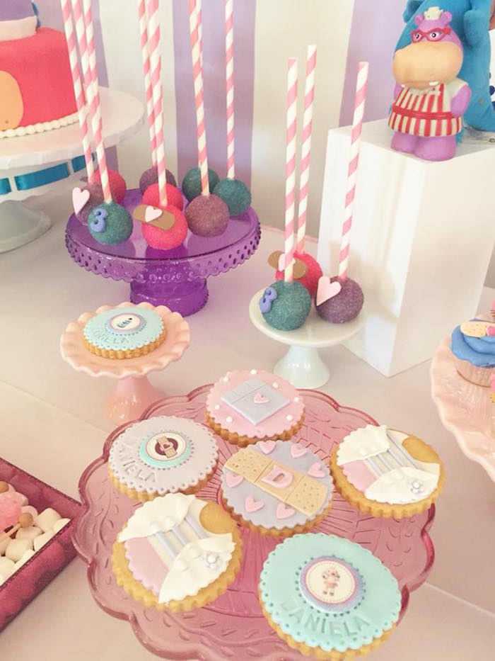 Doc McStuffins-inspired Cookies from a Doc McStuffins Birthday Party on Kara's Party Ideas | KarasPartyIdeas.com (11)