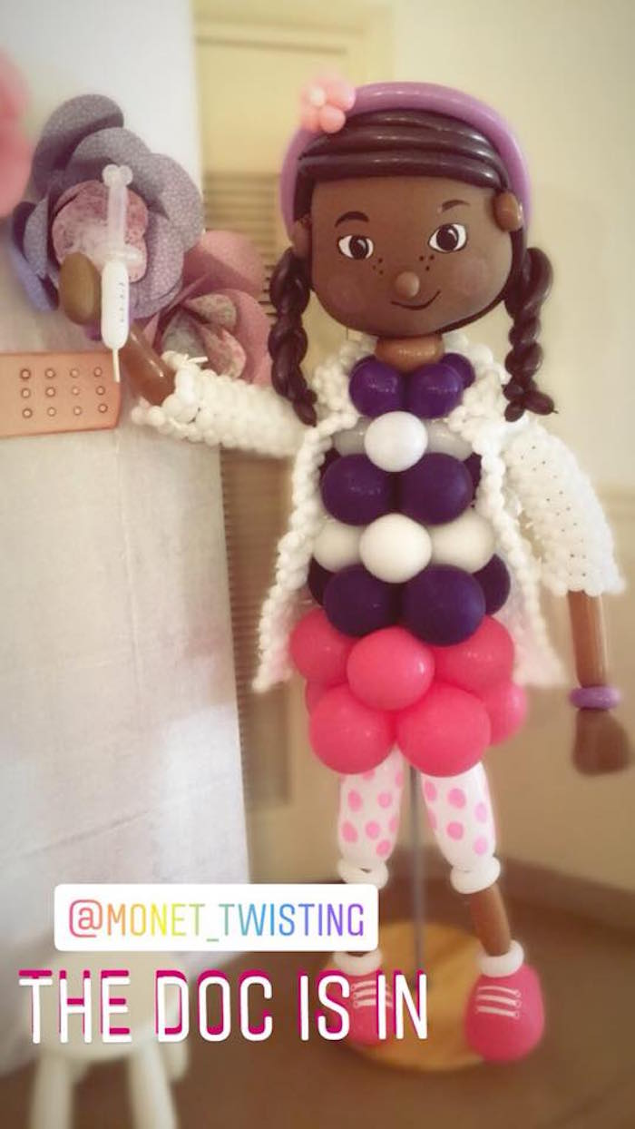 Doc McStuffins Balloon Installation From A Birthday Party On Karas Ideas