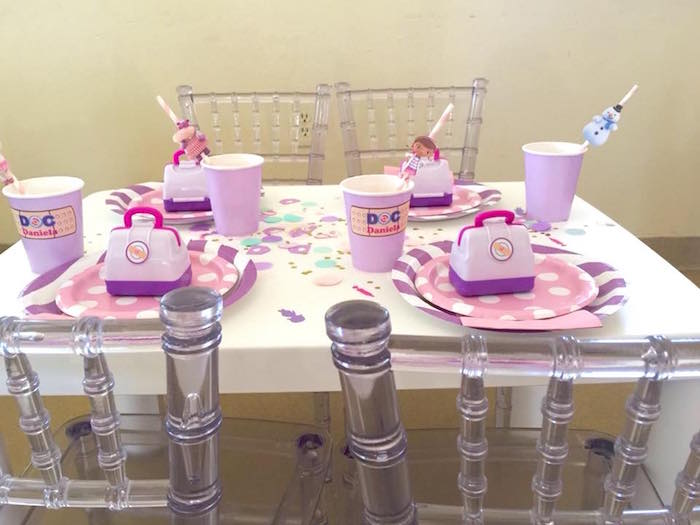 Doc McStuffins Themed Guest Table from a Doc McStuffins Birthday Party on Kara's Party Ideas | KarasPartyIdeas.com (8)
