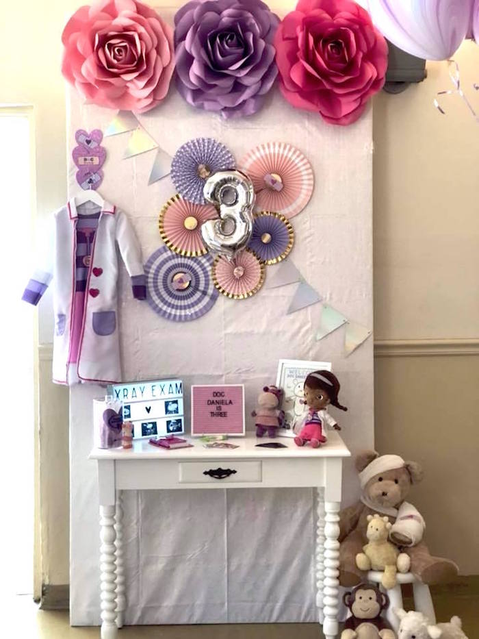Doc McStuffins Party Table from a Doc McStuffins Birthday Party on Kara's Party Ideas | KarasPartyIdeas.com (7)