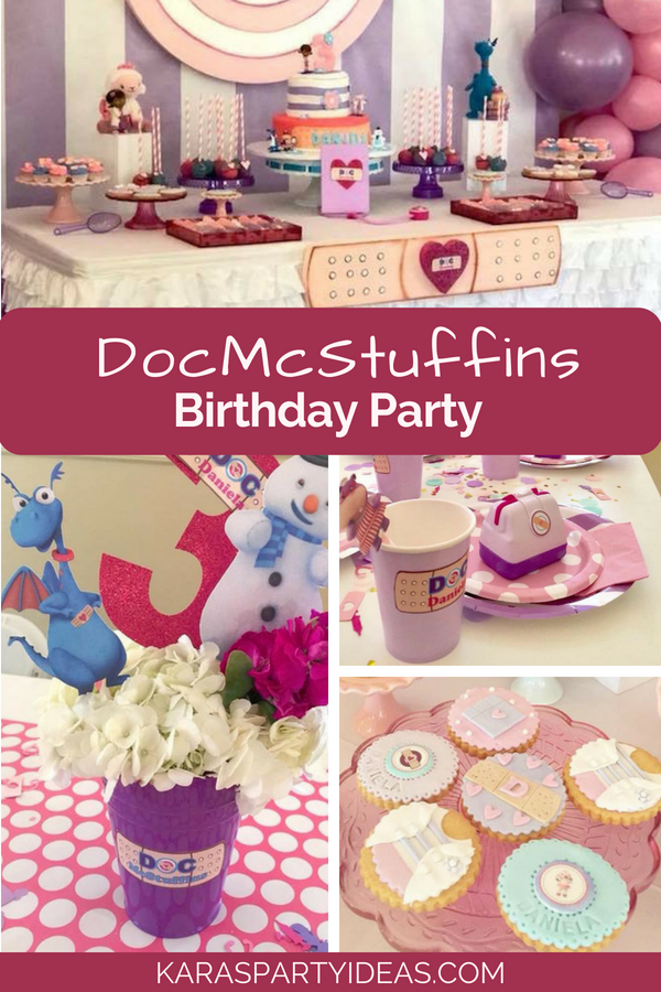 Doc McStuffins Birthday Party via Kara's Party Ideas - KarasPartyIdeas.com