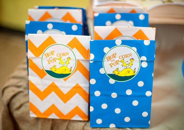 Hop on Popcorn Favor Sacks from a Dr. Seuss Birthday Party on Kara's Party Ideas | KarasPartyIdeas.com (15)