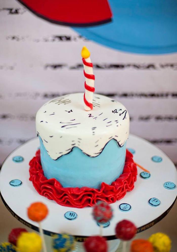 Dr. Seuss Birthday Cake from a Dr. Seuss Birthday Party on Kara's Party Ideas | KarasPartyIdeas.com (12)