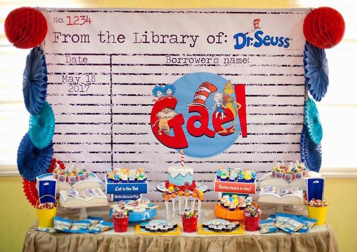 Dr. Seuss Party Table from a Dr. Seuss Birthday Party on Kara's Party Ideas | KarasPartyIdeas.com (11)