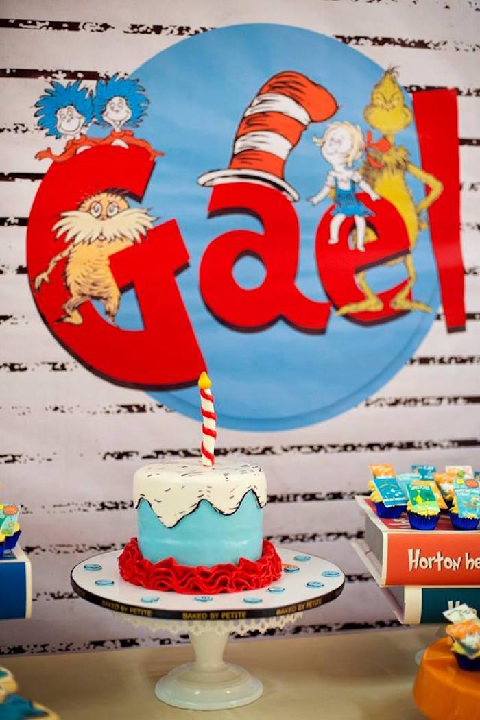 Dr. Seuss Party Table from a Dr. Seuss Birthday Party on Kara's Party Ideas | KarasPartyIdeas.com (9)