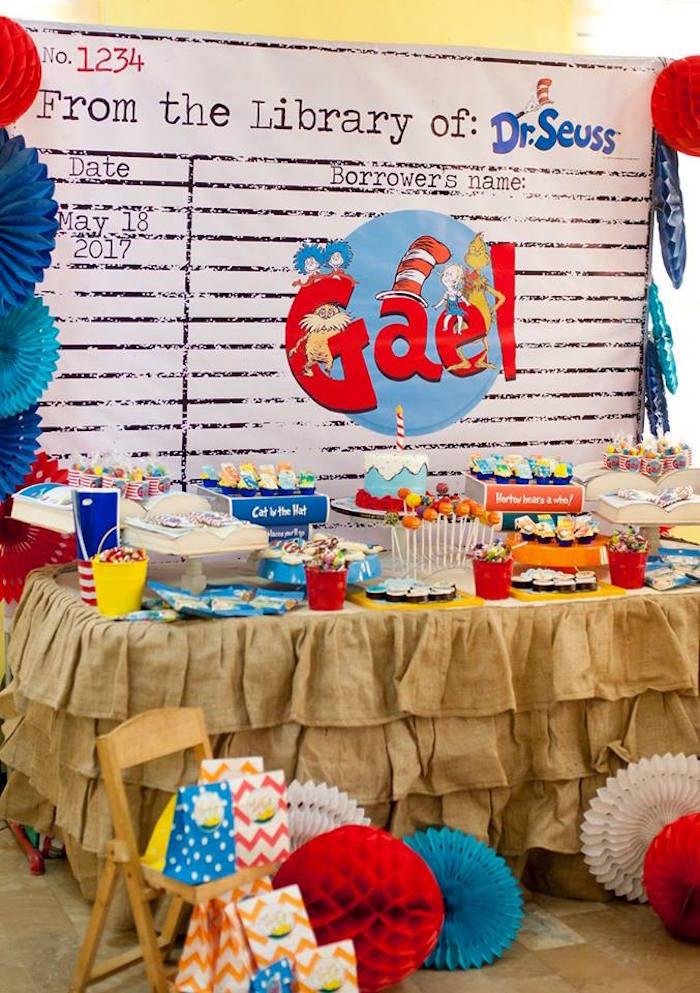 Dr. Seuss Dessert Table from a Dr. Seuss Birthday Party on Kara's Party Ideas | KarasPartyIdeas.com (6)