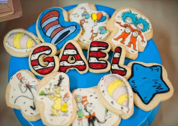 Dr. Seuss Themed Cookies from a Dr. Seuss Birthday Party on Kara's Party Ideas | KarasPartyIdeas.com (4)