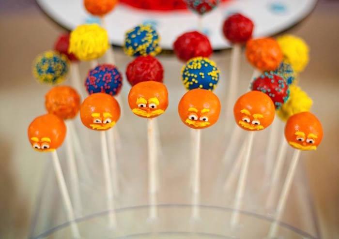 Lorax + Dr. Seuss Cake Pops from a Dr. Seuss Birthday Party on Kara's Party Ideas | KarasPartyIdeas.com (25)