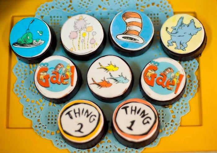 Dr. Seuss Oreos from a Dr. Seuss Birthday Party on Kara's Party Ideas | KarasPartyIdeas.com (24)
