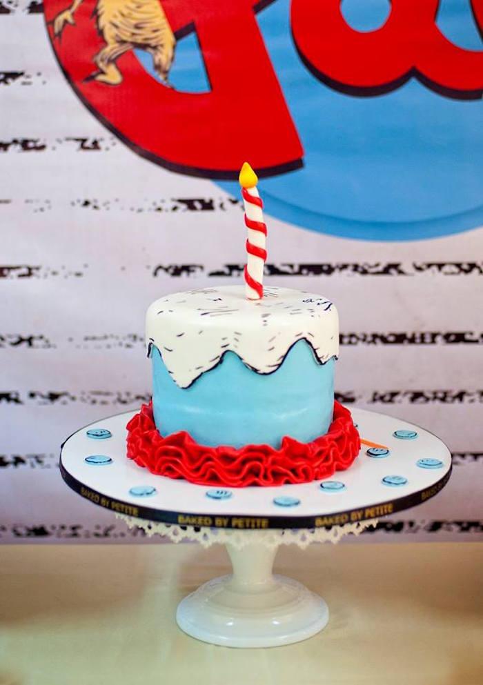 Dr. Seuss Cake from a Dr. Seuss Birthday Party on Kara's Party Ideas | KarasPartyIdeas.com (20)