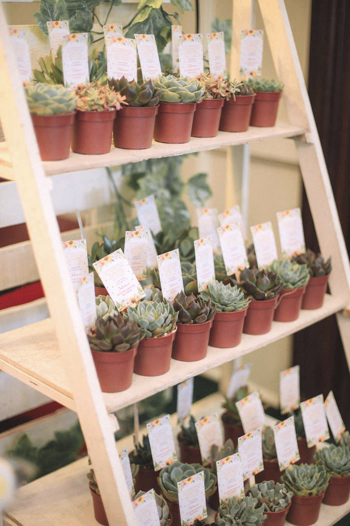 Succulent Plant Favors from a Farmer's Market Birthday Party on Kara's Party Ideas | KarasPartyIdeas.com (13)