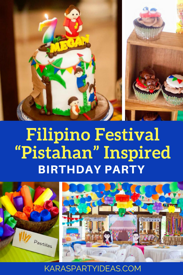 "Filipino Festival ""Pistahan"" Inspired Birthday Party via Kara_s Party Ideas - KarasPartyIdeas.com"