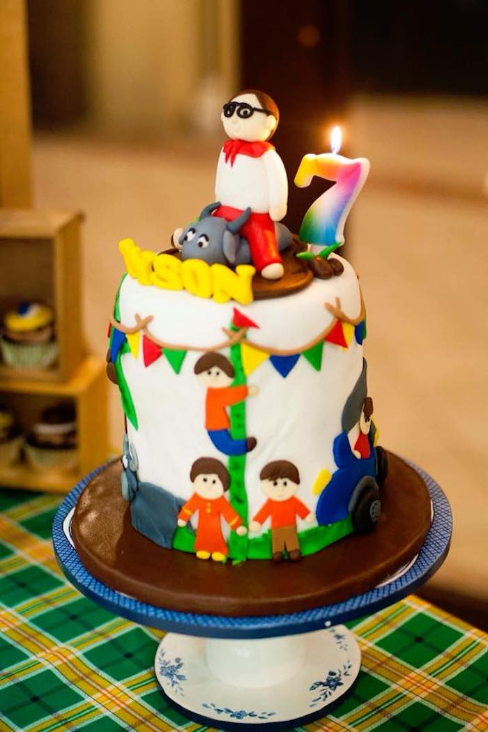 "Cake from a Filipino Festival ""Pistahan"" Inspired Birthday Party on Kara's Party Ideas 