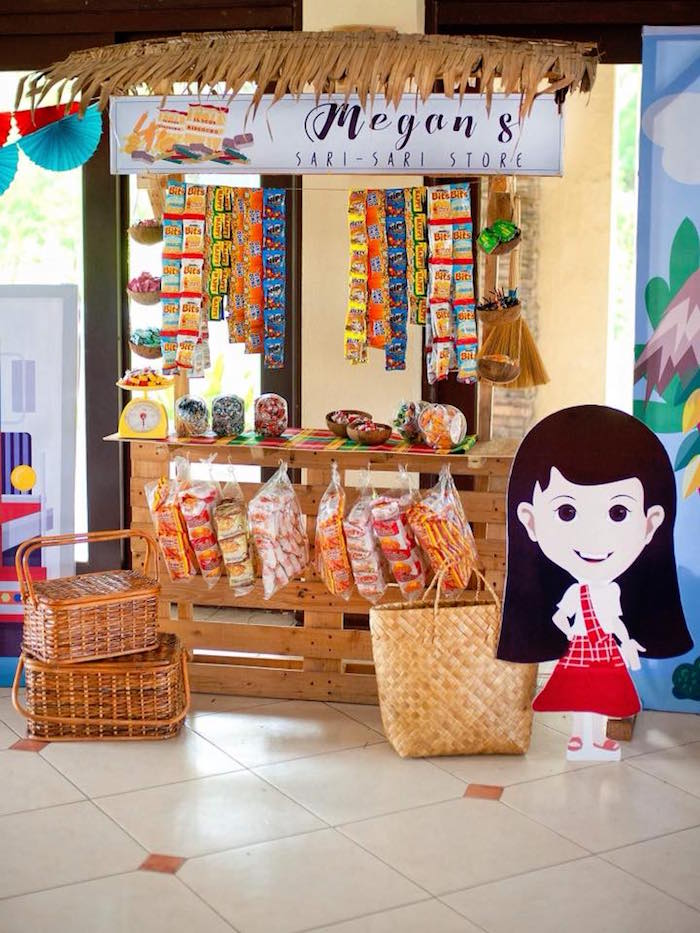 "Candy Stand from a Filipino Festival ""Pistahan"" Inspired Birthday Party on Kara's Party Ideas 