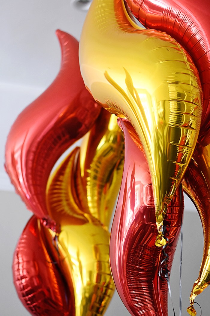 Fire Balloons from a Firetruck Birthday Party on Kara's Party Ideas | KarasPartyIdeas.com (29)