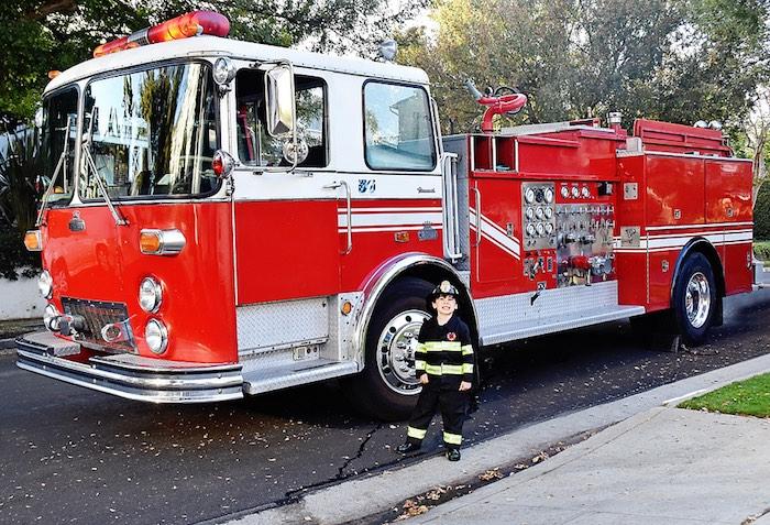 Firetruck from a Firetruck Birthday Party on Kara's Party Ideas | KarasPartyIdeas.com (39)