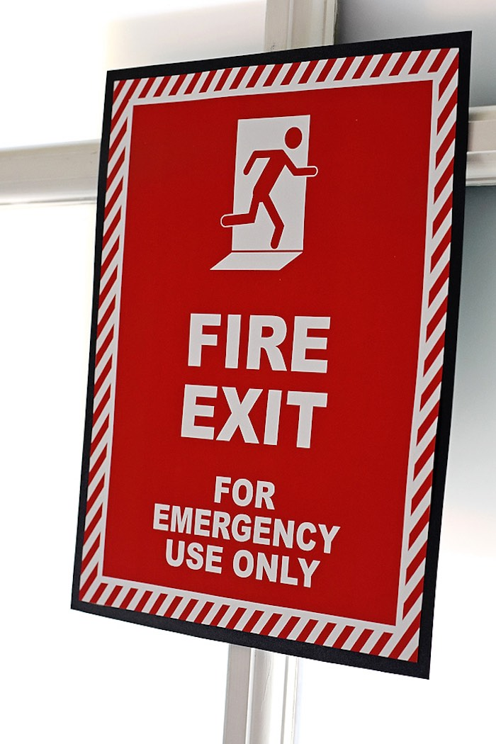 Fire Exit Print + Signage from a Firetruck Birthday Party on Kara's Party Ideas | KarasPartyIdeas.com (19)
