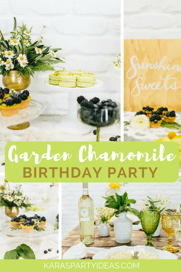 Garden Chamomile Bridal Shower Tea Party via Kara_s Party Ideas - KarasPartyIdeas.com