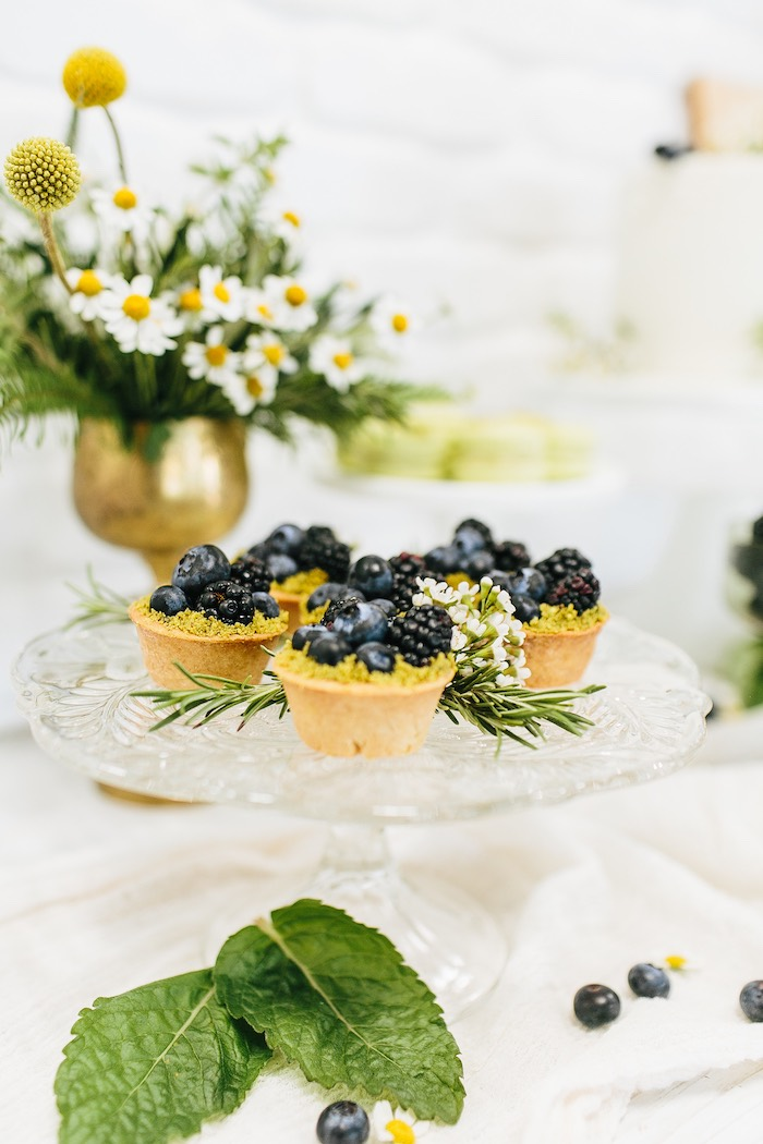 Berry Tarts from a Garden Chamomile Bridal Shower Tea Party on Kara's Party Ideas | KarasPartyIdeas.com (12)