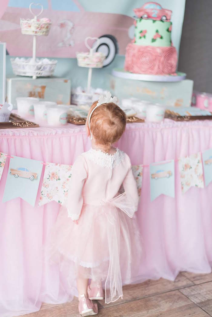 Girly Vintage Car Birthday Party on Kara's Party Ideas | KarasPartyIdeas.com (13)