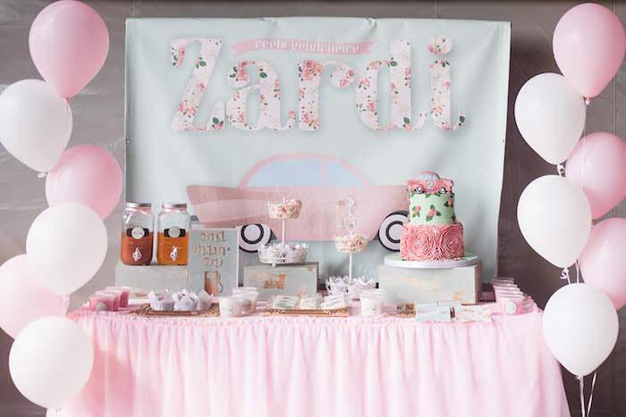 Karas Party Ideas Girly Vintage Car Birthday Party Karas Party Ideas