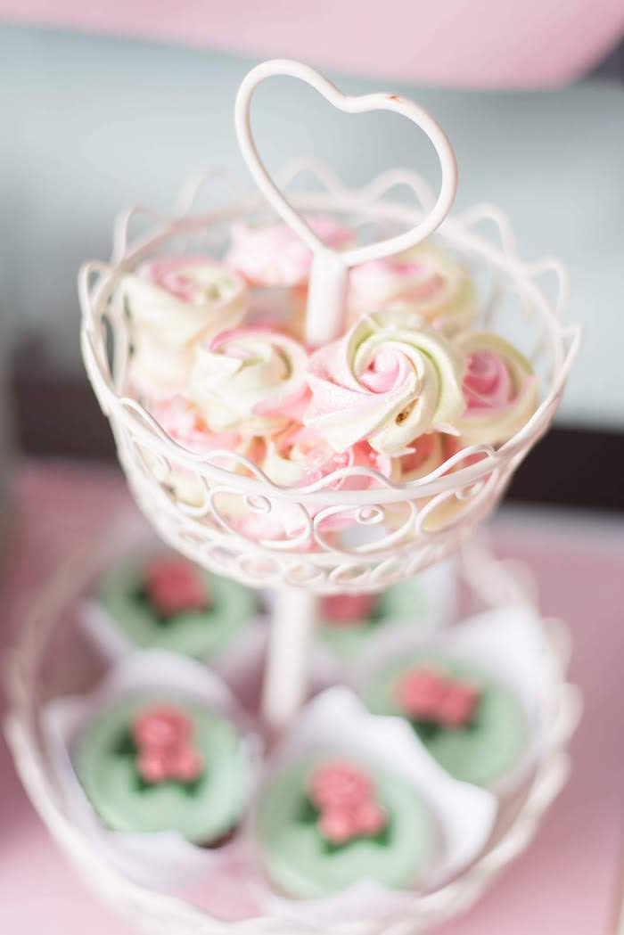 Meringue Cookies from a Girly Vintage Car Birthday Party on Kara's Party Ideas | KarasPartyIdeas.com (20)