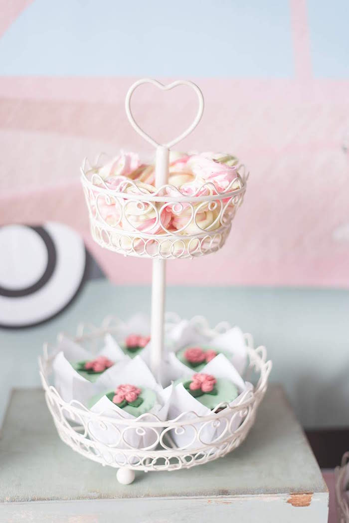 Dessert Basket Tray from a Girly Vintage Car Birthday Party on Kara's Party Ideas | KarasPartyIdeas.com (17)