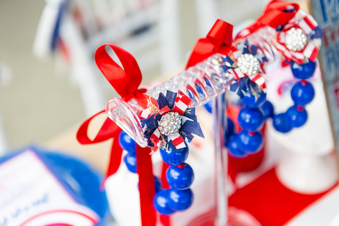 Gumball Bracelets from a Red, White & Blue Patriotic Party on Kara's Party Ideas | KarasPartyIdeas.com