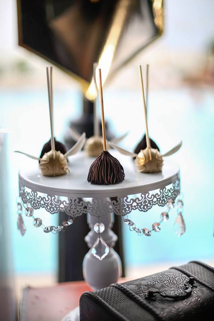 Harry Potter Themed Cake Pops from a Harry Potter Birthday Pool Party on Kara's Party Ideas | KarasPartyIdeas.com (11)
